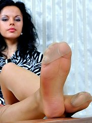 Pantyhosed Toes